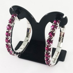 House Of Priscilla Classic Showgirl Hoops Pink