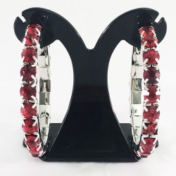 House Of Priscilla Classic Showgirl Hoops Red