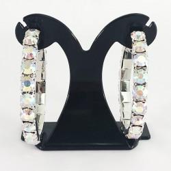 House Of Priscilla Classic Showgirl Hoops Aurora Borealis Crystal