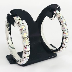 House Of Priscilla Classic Showgirl Hoops AB Crystal