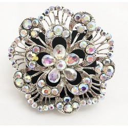 Aroura Borealis Crystal Diamante Ring 01