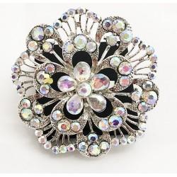 Aurora Borealis Crystal Diamante Ring 01