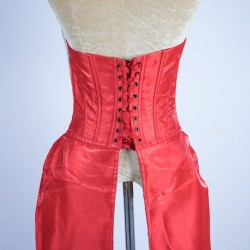 Custom Order Satin Corset Tails Red