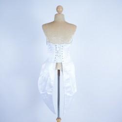 Custom Order Satin Corset Tails White