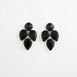 Black Crystal Earring S19