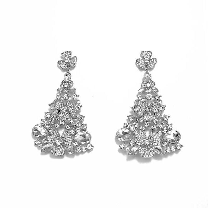 Clear Crystal Diamante Earring M17