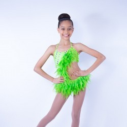 Feather Dress No 2 Lime Green