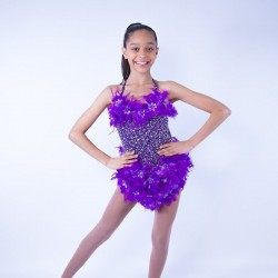 Feather Dress No 6 Purple