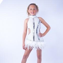 Feather Dress No 10 White