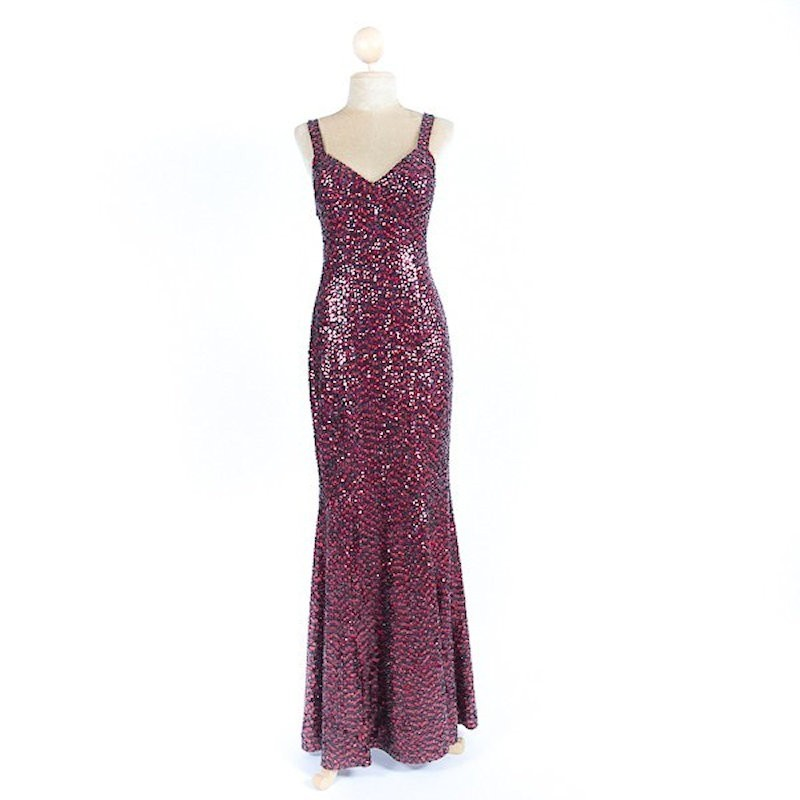 Long Sequin Dress Style 1