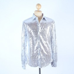 Sequin Shirt Silver