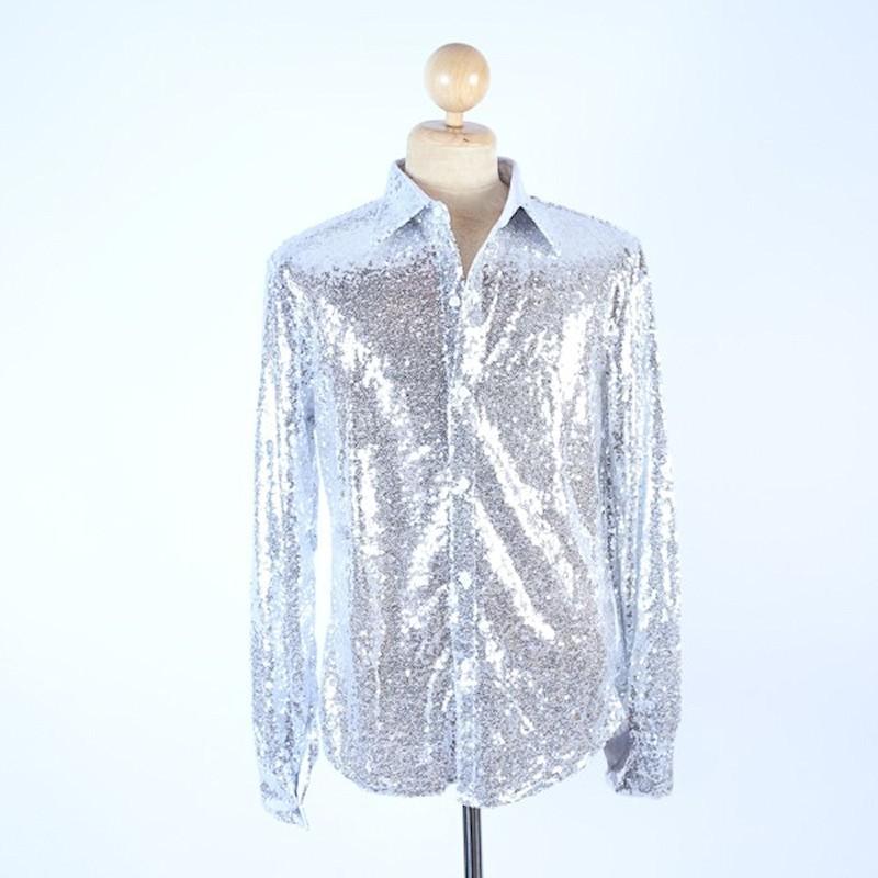 Sequin Shirt Silver