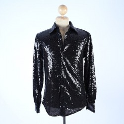 Sequin Shirt Black