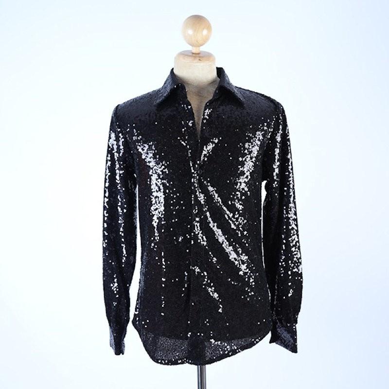 Sequin Shirt Black
