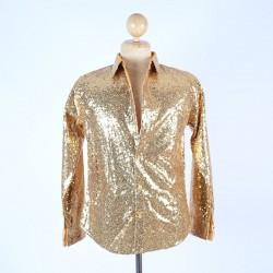 Sequin Shirt Gold