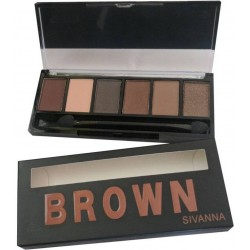 Sivanna Eye Shadow Pallet Brown