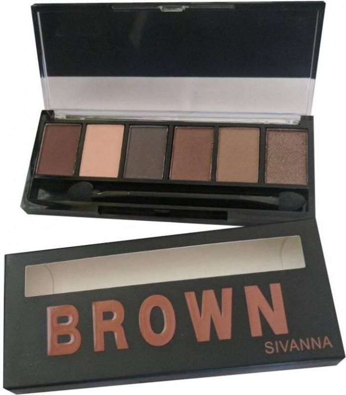 Sivanna Eye Shadow Pallet Brown