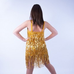Childrens Fringe Outfit No 12 Gold