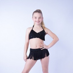 USA Beaded Fringe Crop Top and Skirt