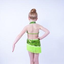 Ally Sequin Fringe Dress Lime Green