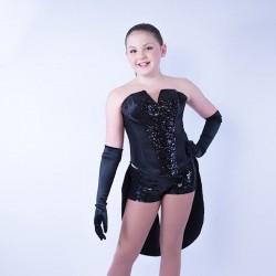 Childrens Sequin Dress No 01 Black