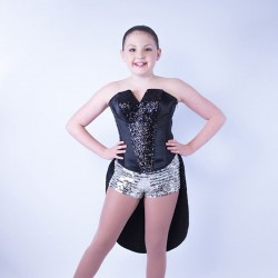 Childrens  Sequin Dress No 01 Black and Silver