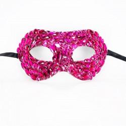 Hot Pink Crystal Diamante Mask