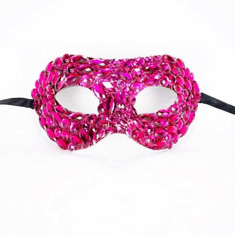Beaded Mask Pink