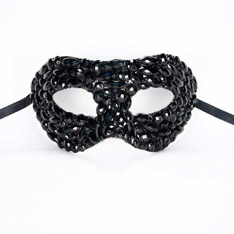 Beaded Mask Black