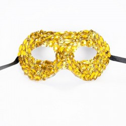 Beaded Mask Gold
