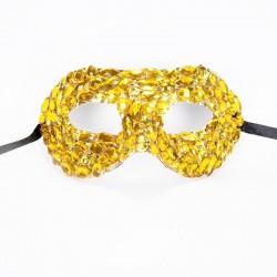 Gold Crystal Diamante Mask