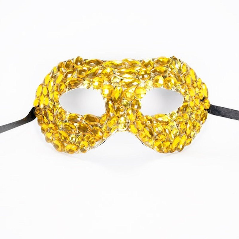 Beaded Mask Gold