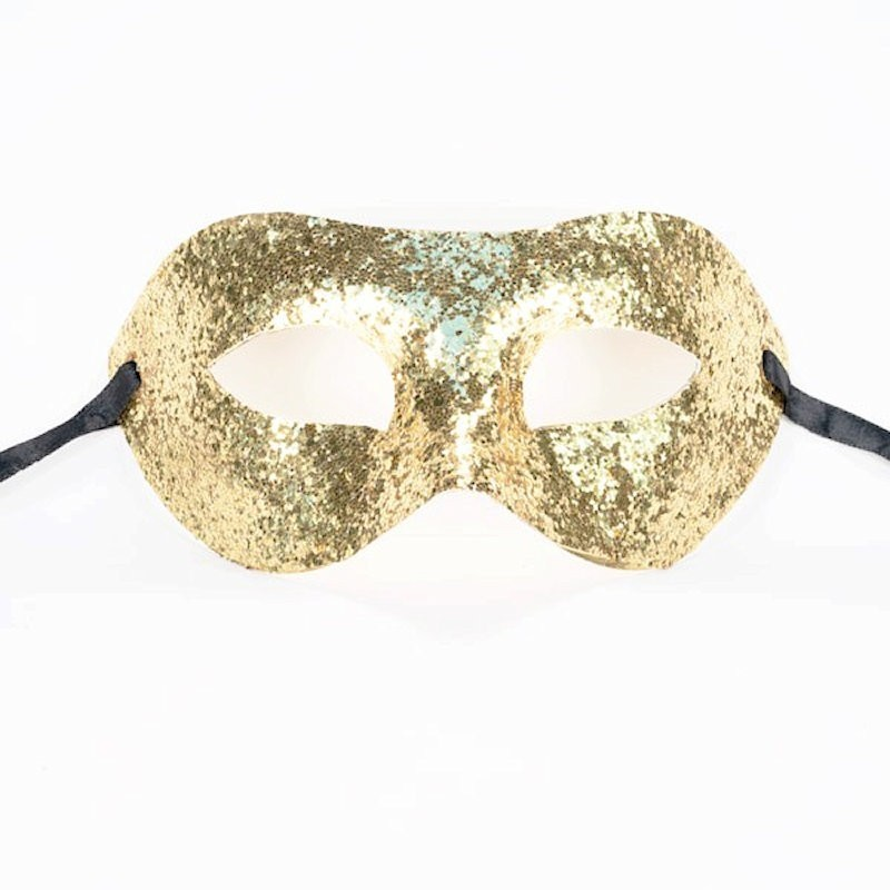 Glitter Mask Gold