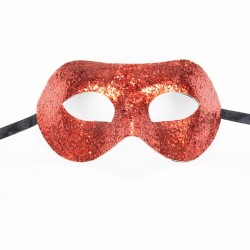Glitter Mask Red