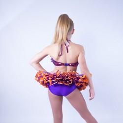 Childrens Sequin Dress No 05 Purple and Orange