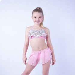 Kayla Diamante Crop Set - Light Pink