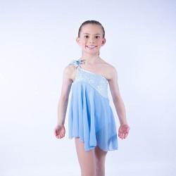 Tangled Waters Chiffon Dress Light Blue