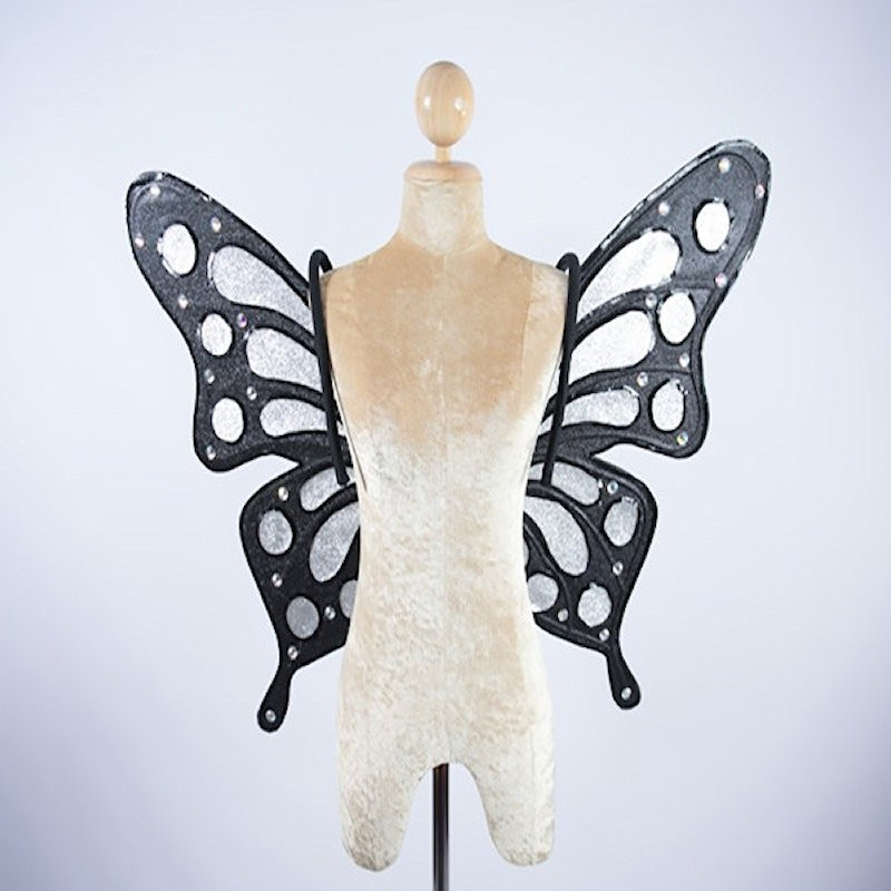 Butterfly Wings 2 Black and Silver