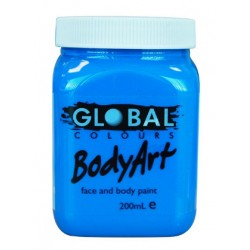 Global Body Paint 200ml Fluro Blue