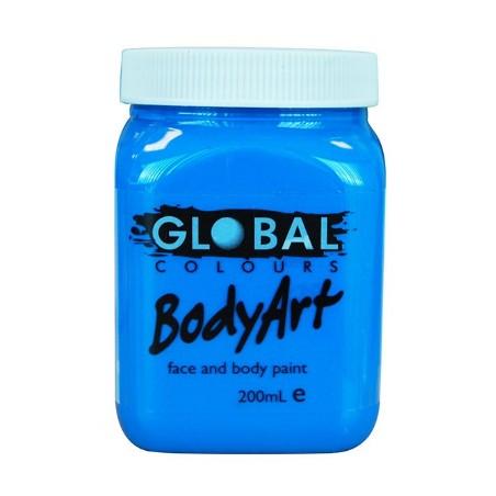 Global Body Paint 200ml Fluro Blue