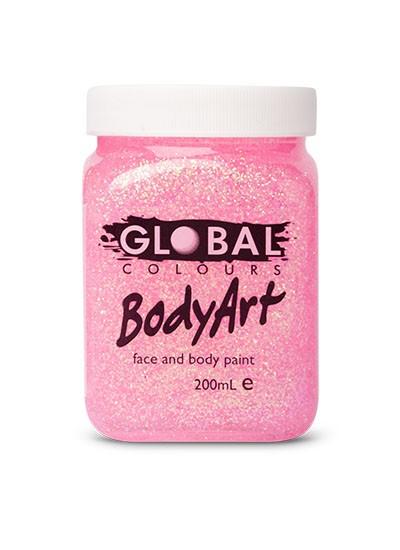 Global Body Paint 200ml Pink Glitter