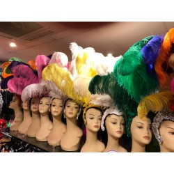 Large Showgirl Feathered Headpiece