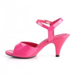 Pleaser Belle 309 Strap Sandal Patent Hot Pink