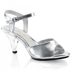 Pleaser Belle 309 Sandal Silver