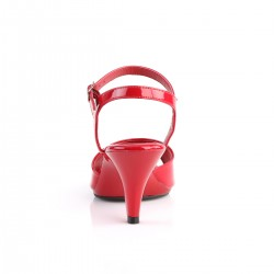 Belle 309 Strap Sandal Red Patent Fabulicious