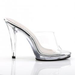 Fabulicious Flair 401 Slip On Sandal Clear