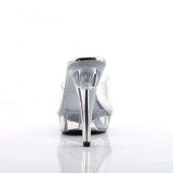 Pleaser Cocktail 501 Slip on Sandal Clear