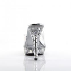 Fabulicious Cocktail 501 SDT Platform Slip On Sandal Clear