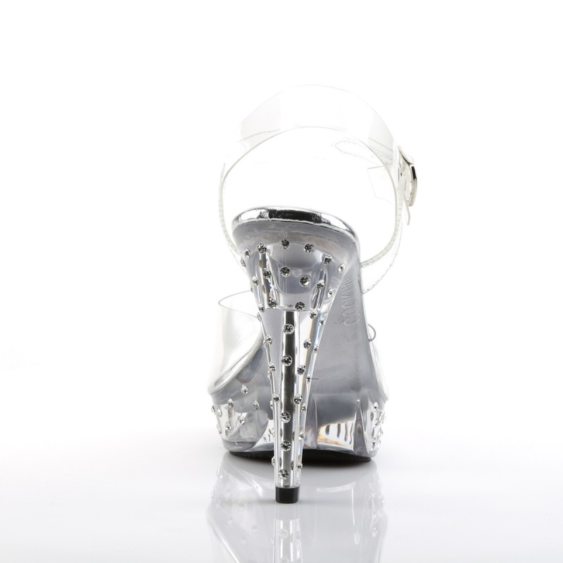 Fabulicious Cocktail 508 SDT Strap Sandal Clear