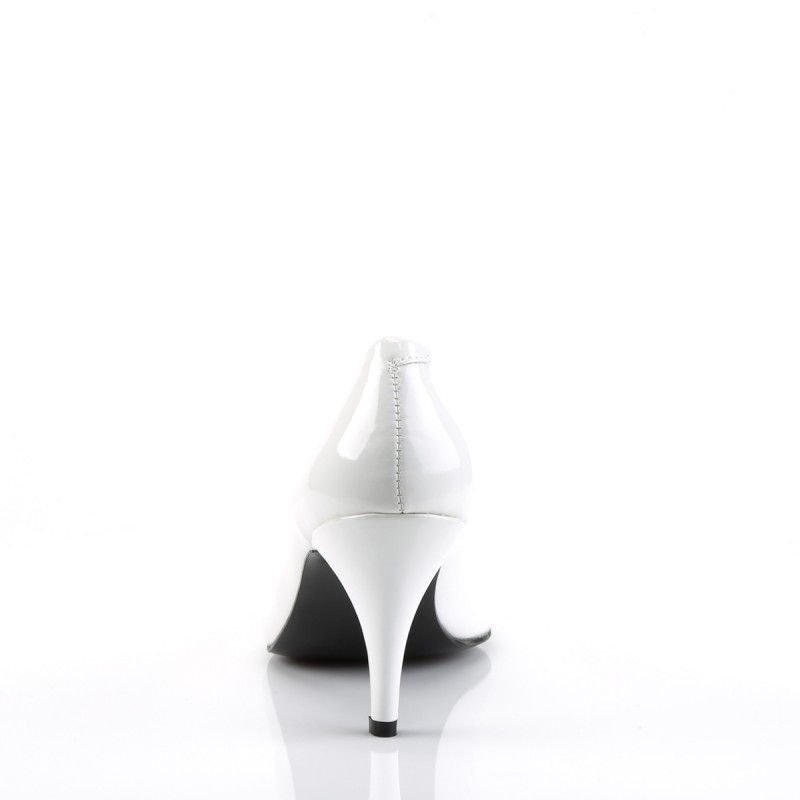 Pump 420 White Patent Funtasma